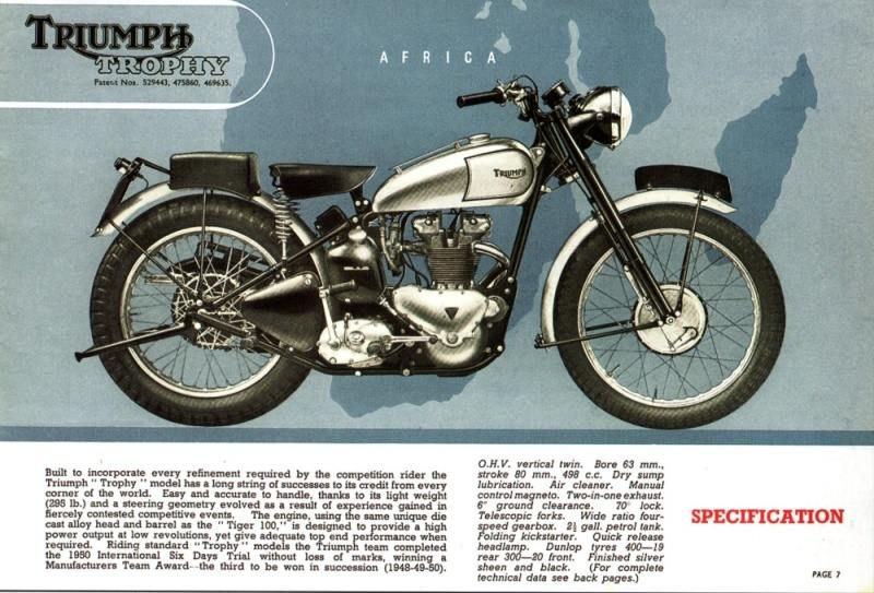 Page history of the triumph trophy on three cylinder engine balance